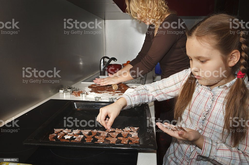 Making homemade gingerbread for christmas royalty-free stock photo