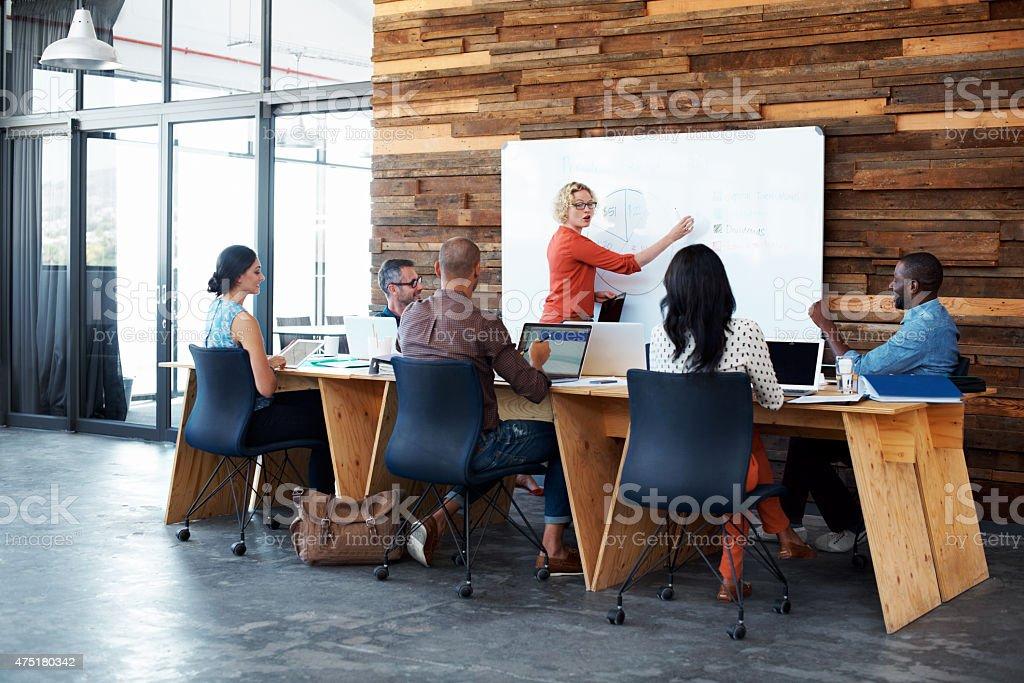 Making ideas happen stock photo