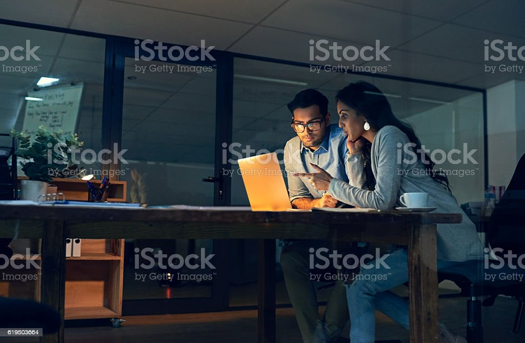 Making important decisions together to improve their chances at success stock photo