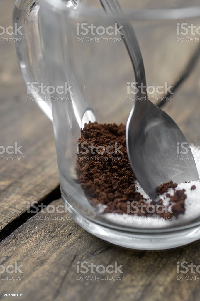 Making instant coffee stock photo