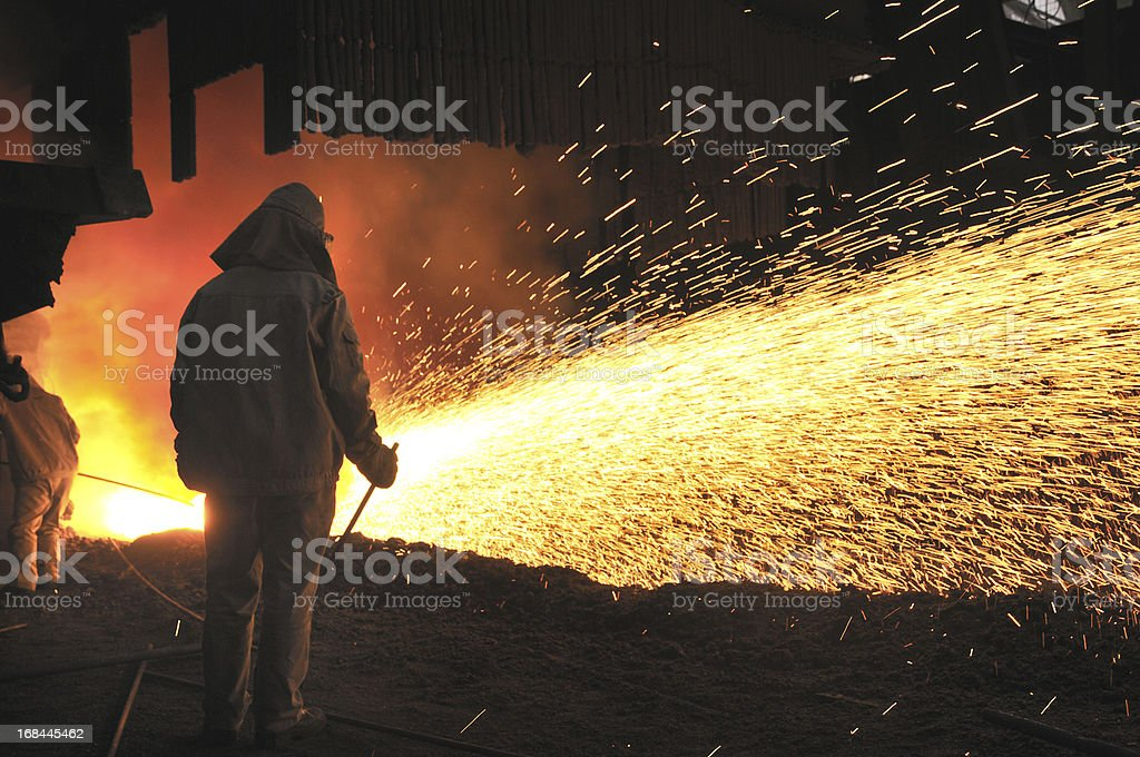 Making iron royalty-free stock photo