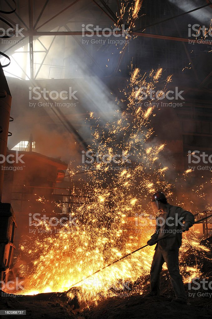 Making iron stock photo