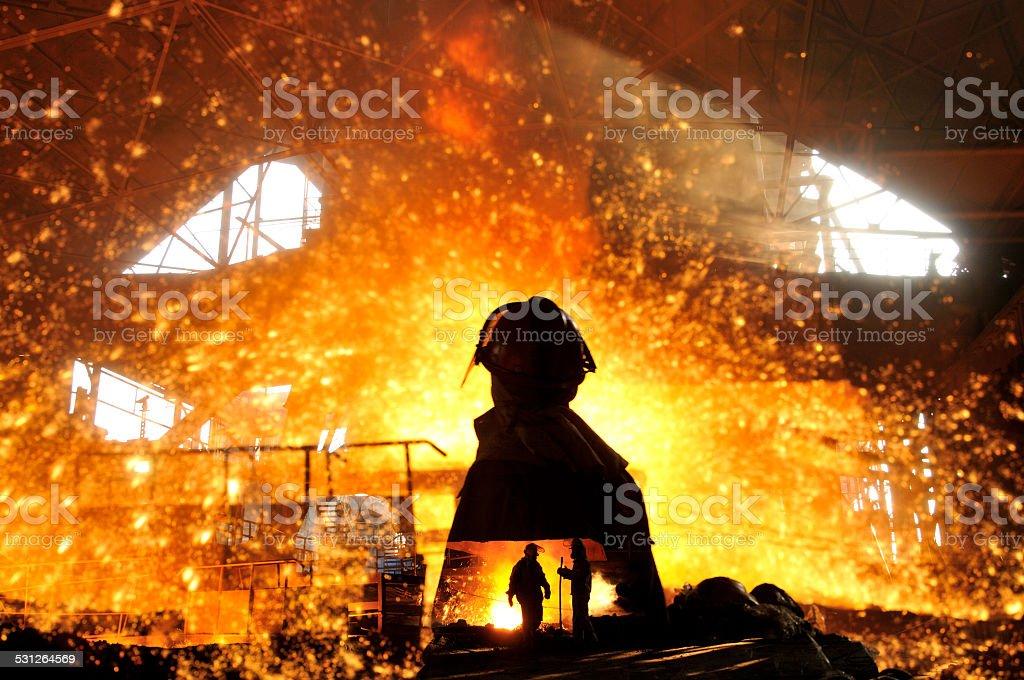 Making iron water stock photo