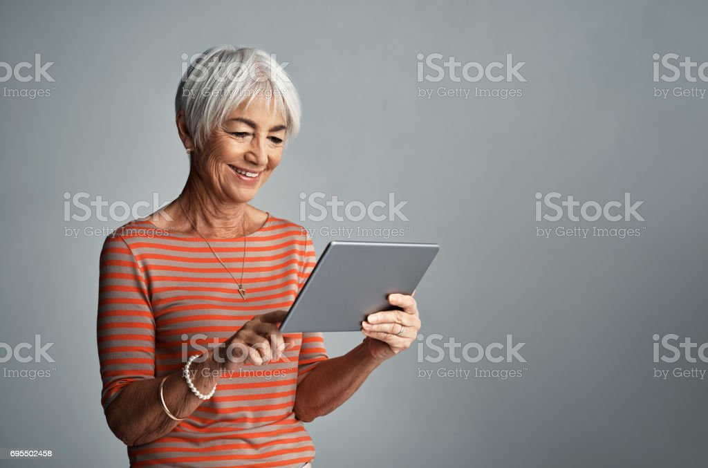 Making it easier for elders to tell their stories stock photo