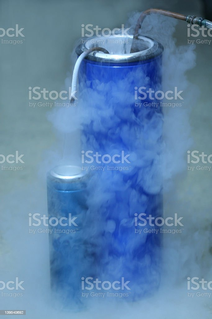 Making liquid oxygen stock photo