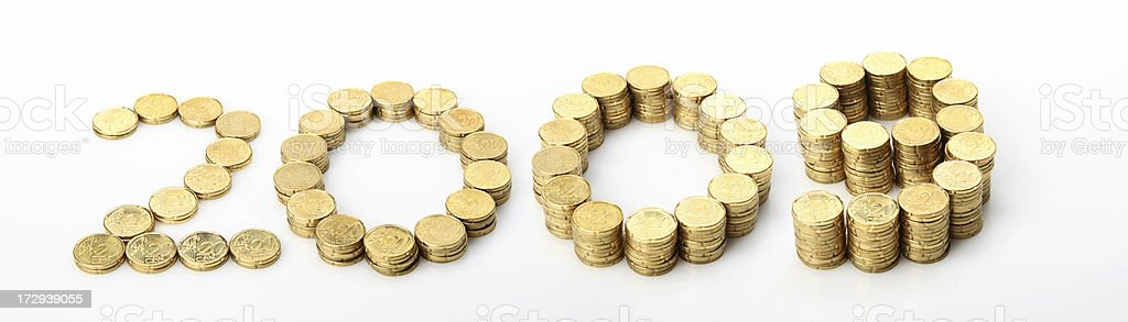 Making money in 2009 royalty-free stock photo