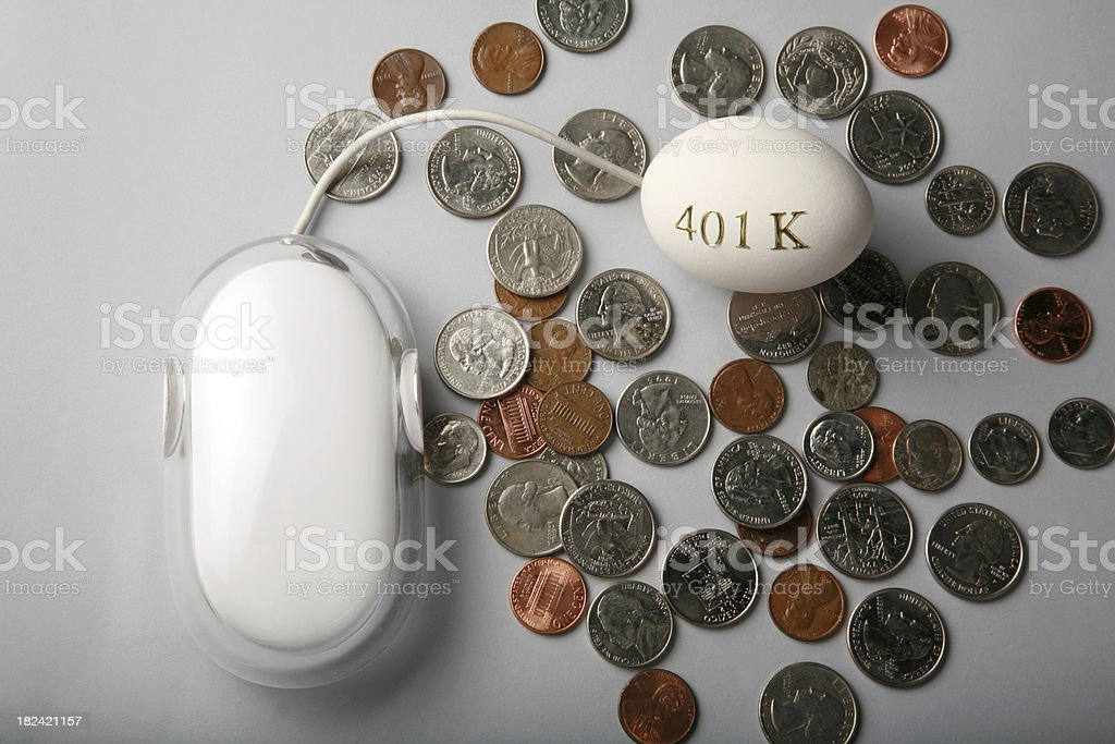 Making money online for your 401K royalty-free stock photo