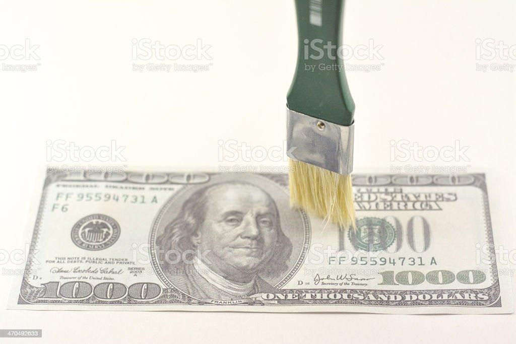 Geld verdienen Lizenzfreies stock-foto