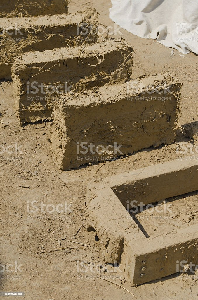 Making Mud Bricks at Bent's Old Fort National Historic Sit stock photo