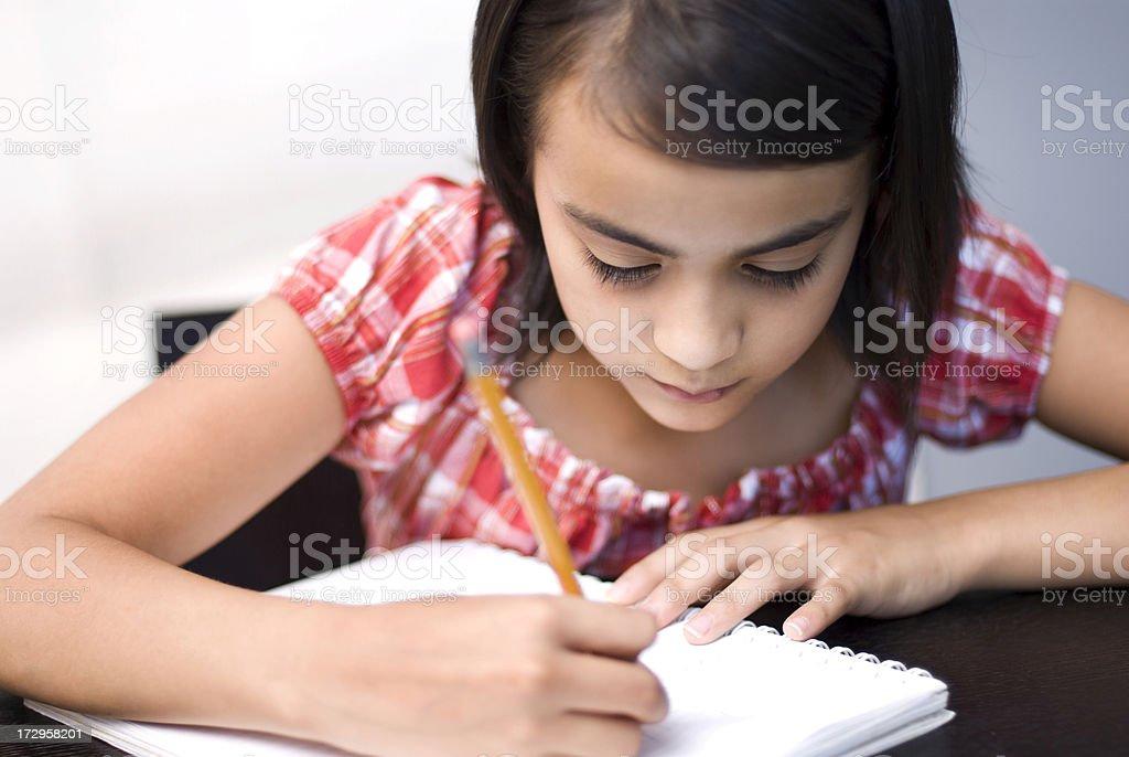 Making my homework stock photo