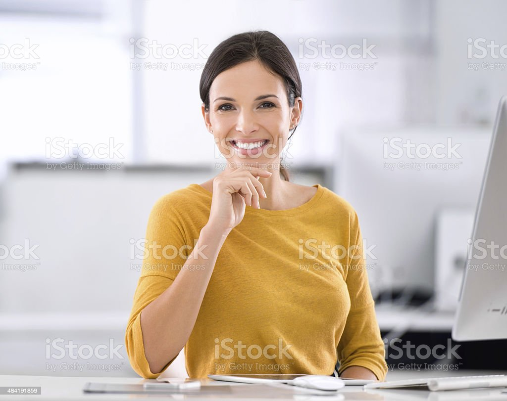Making my mark is so fulfilling! stock photo