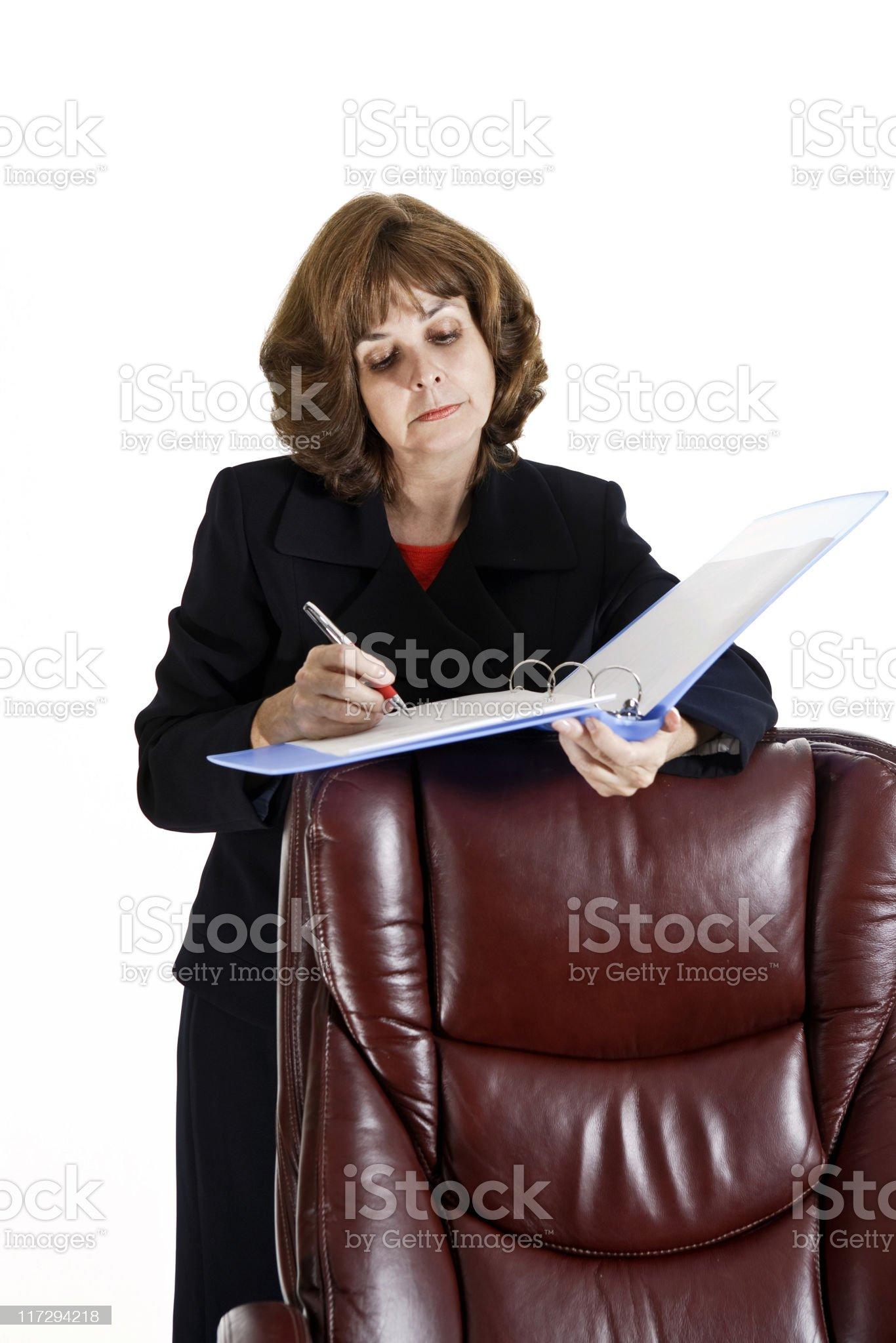 Making Notes royalty-free stock photo