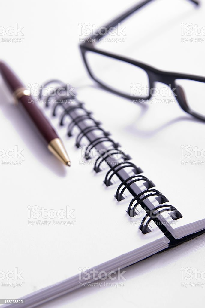 Making Notes royalty-free stock photo