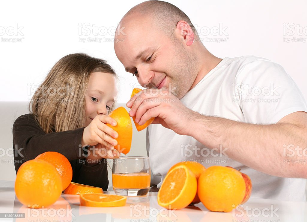 Making of the orange juice royalty-free stock photo