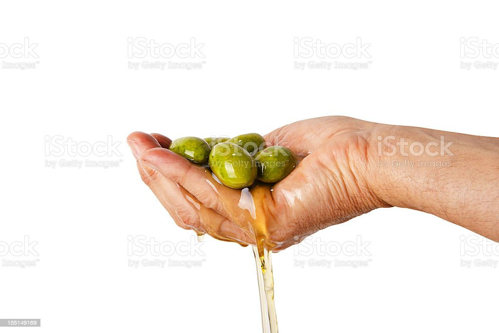 Making oil royalty-free stock photo