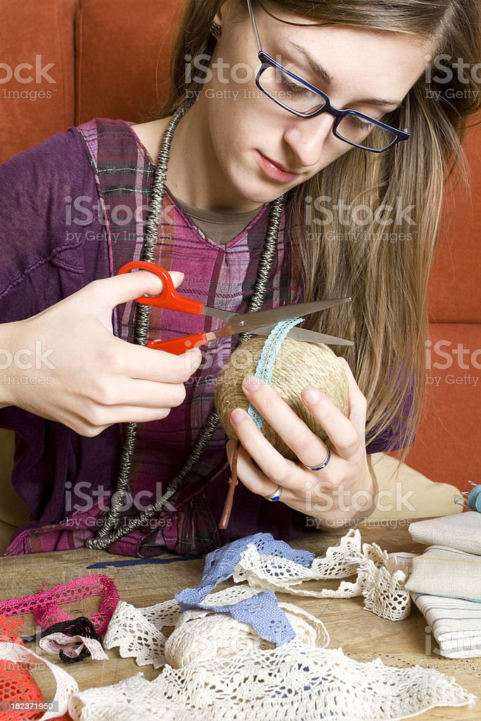 Making ornaments royalty-free stock photo