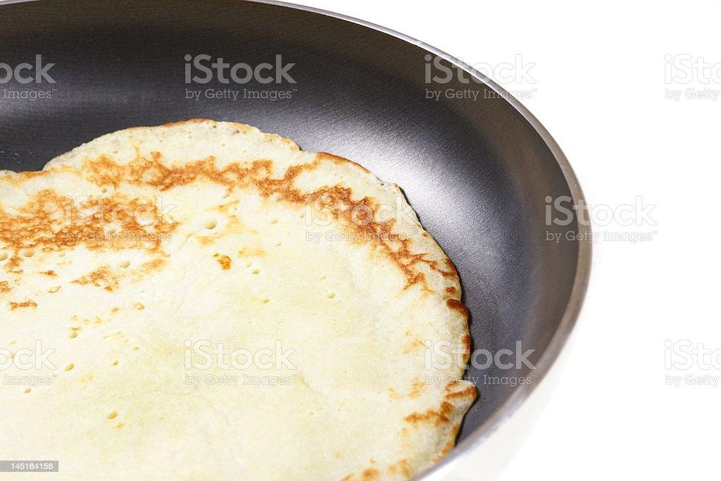 making pancake stock photo
