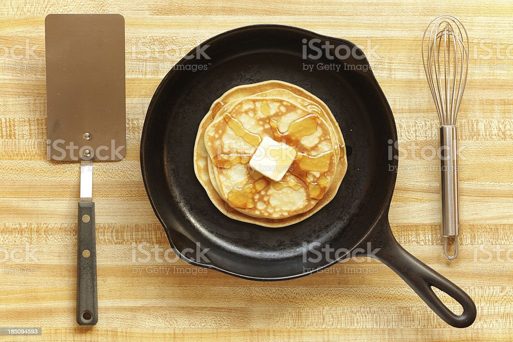 Making Pancakes stock photo
