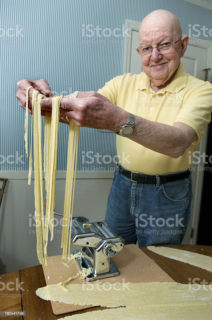 Making Pasta at Home stock photo