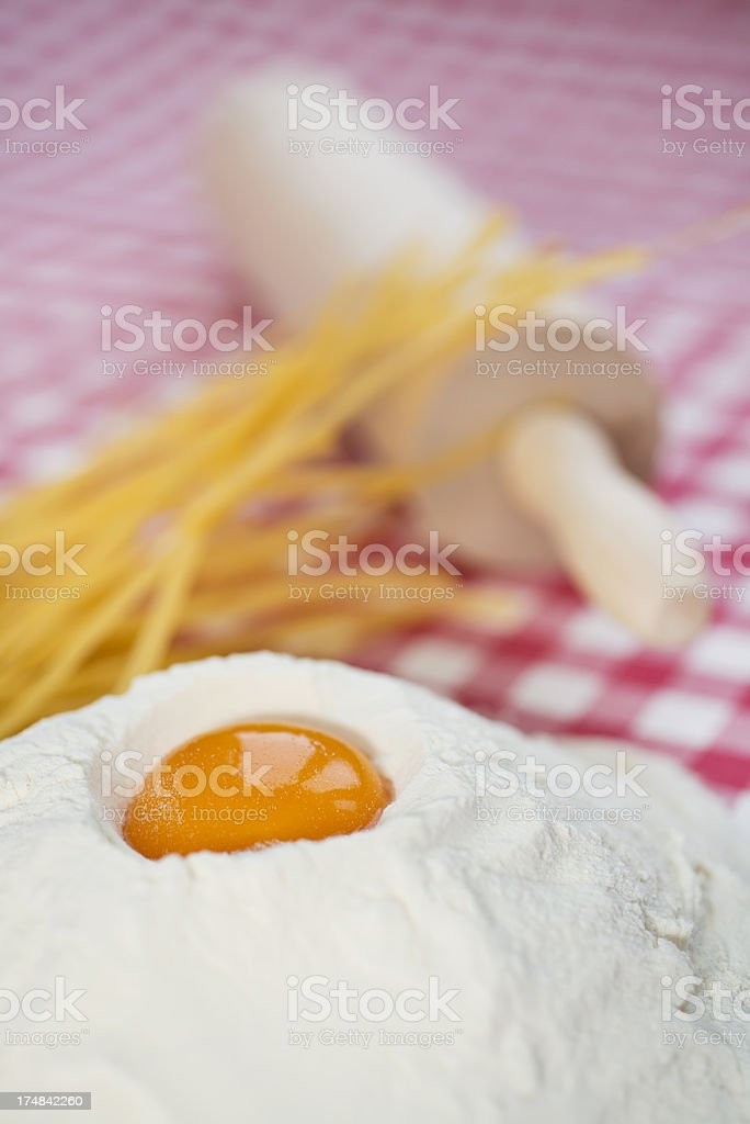 Making pasta stock photo