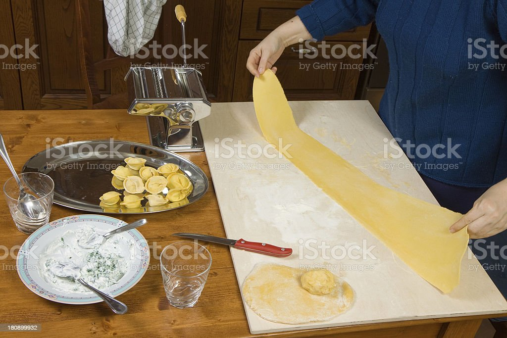 making pasta royalty-free stock photo