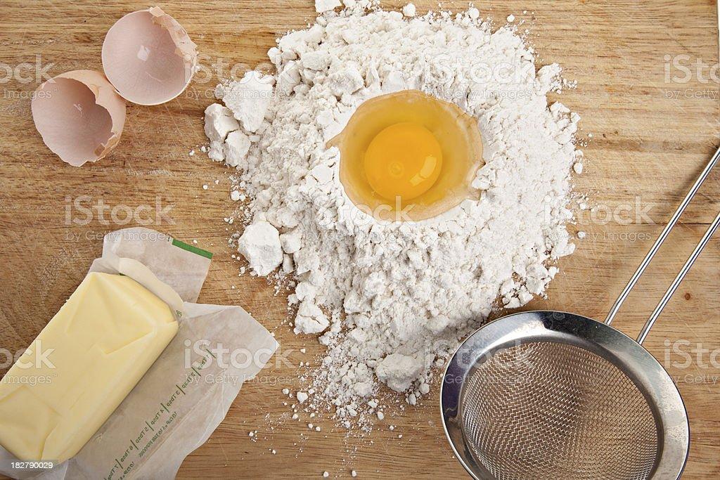 Making pastry Crust stock photo