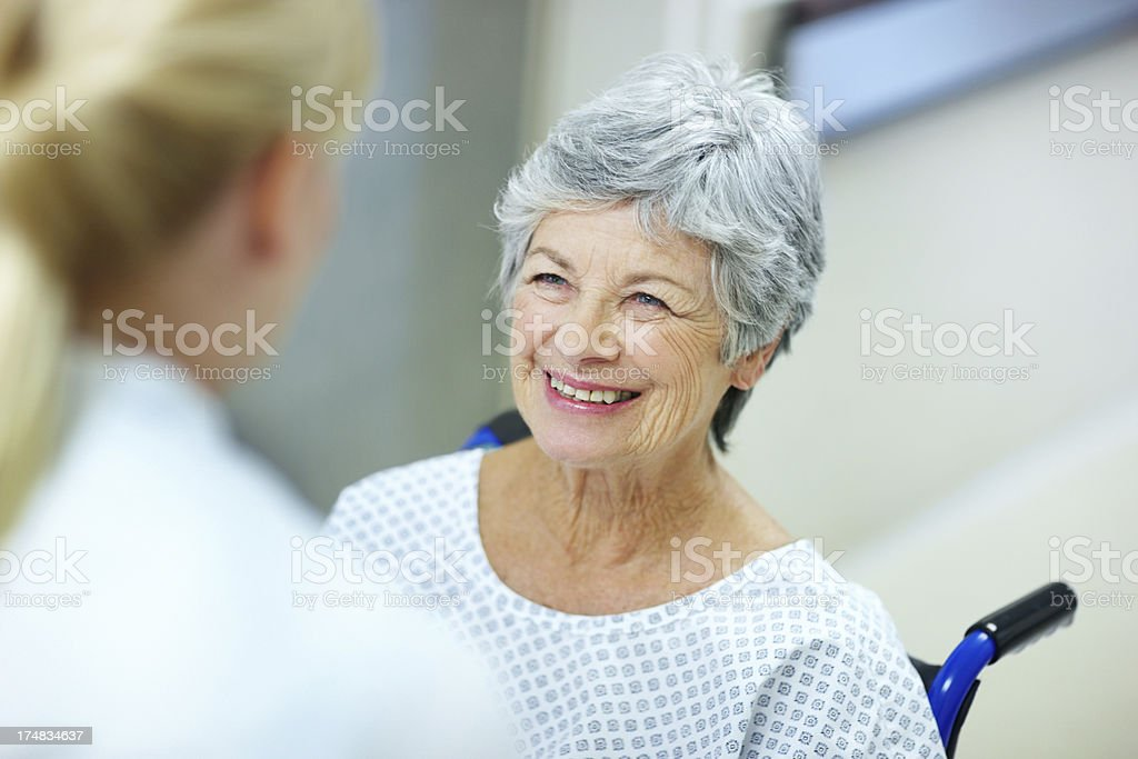 Making patients happy! royalty-free stock photo