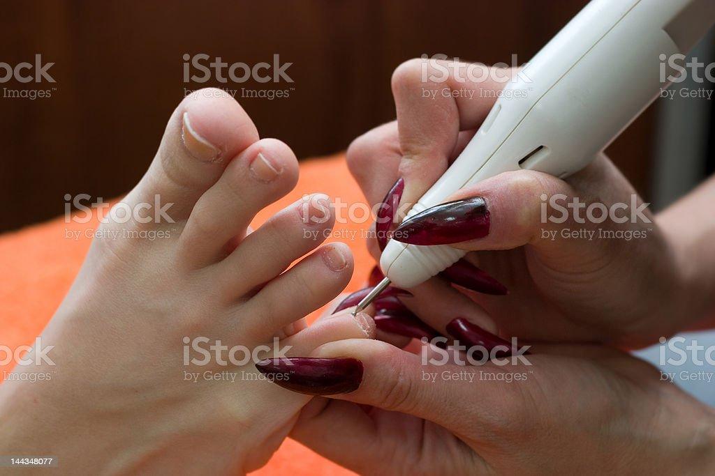 making pedicure royalty-free stock photo