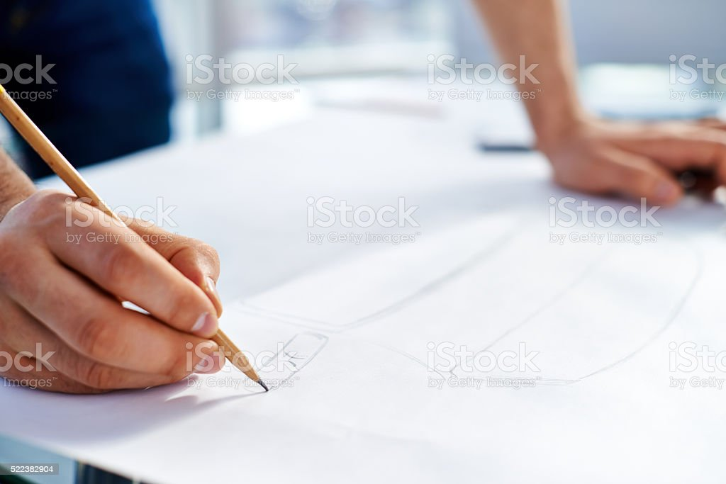 Making pencil sketch stock photo