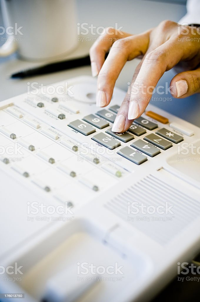 Making Phone Call royalty-free stock photo
