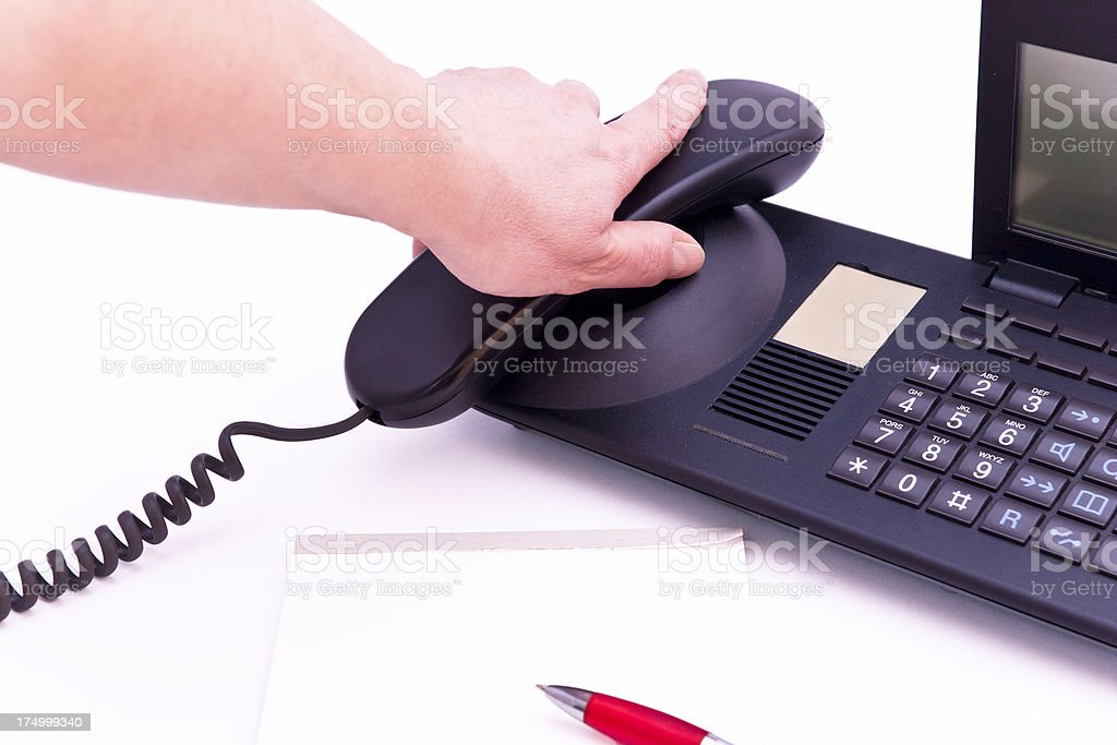 Making phone calls all day royalty-free stock photo