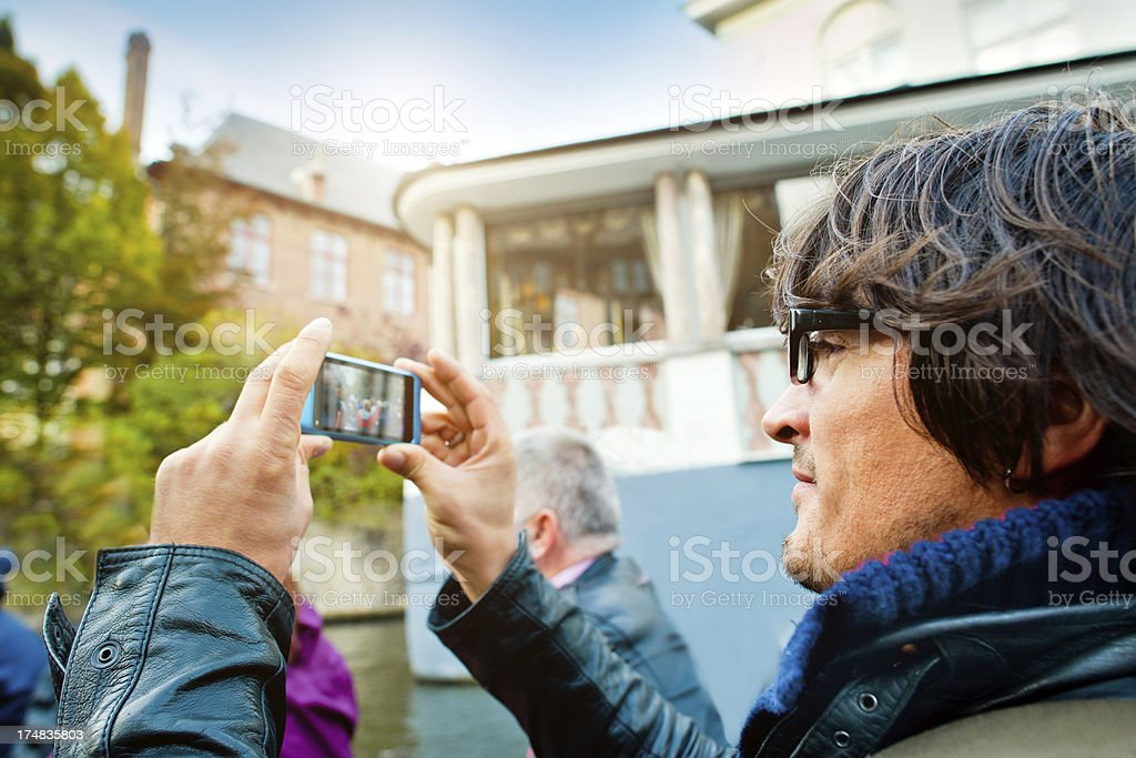 Making photo with smartphone royalty-free stock photo
