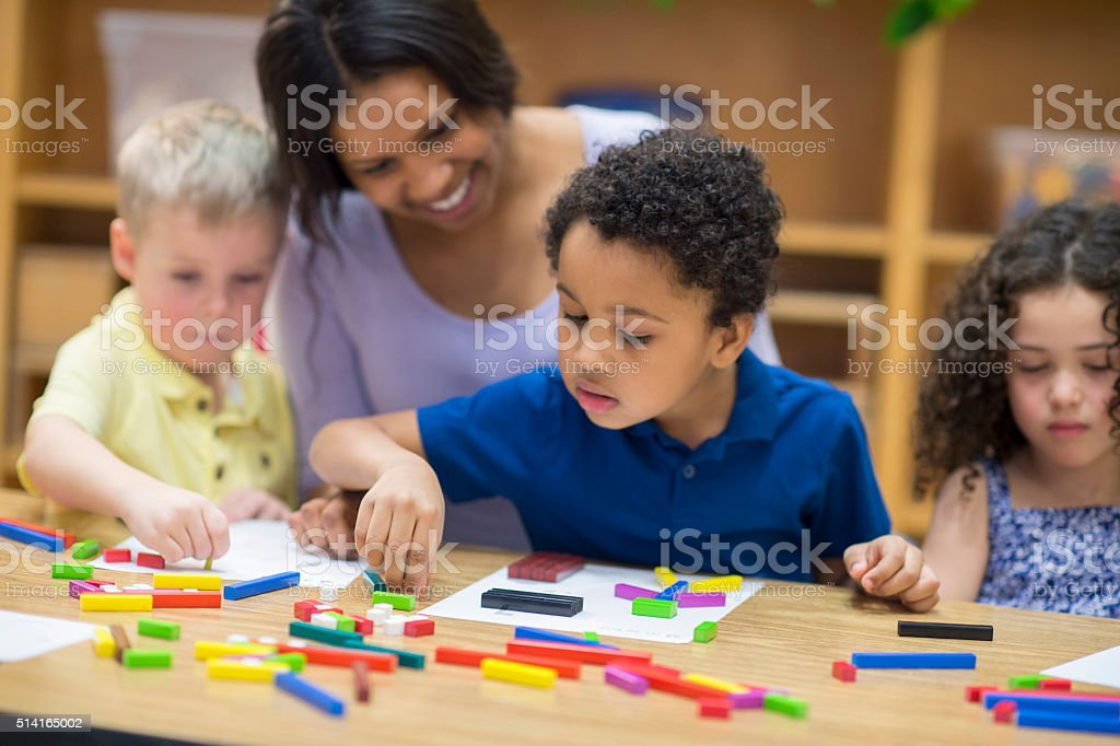 Making Pictures with Block Shapes stock photo