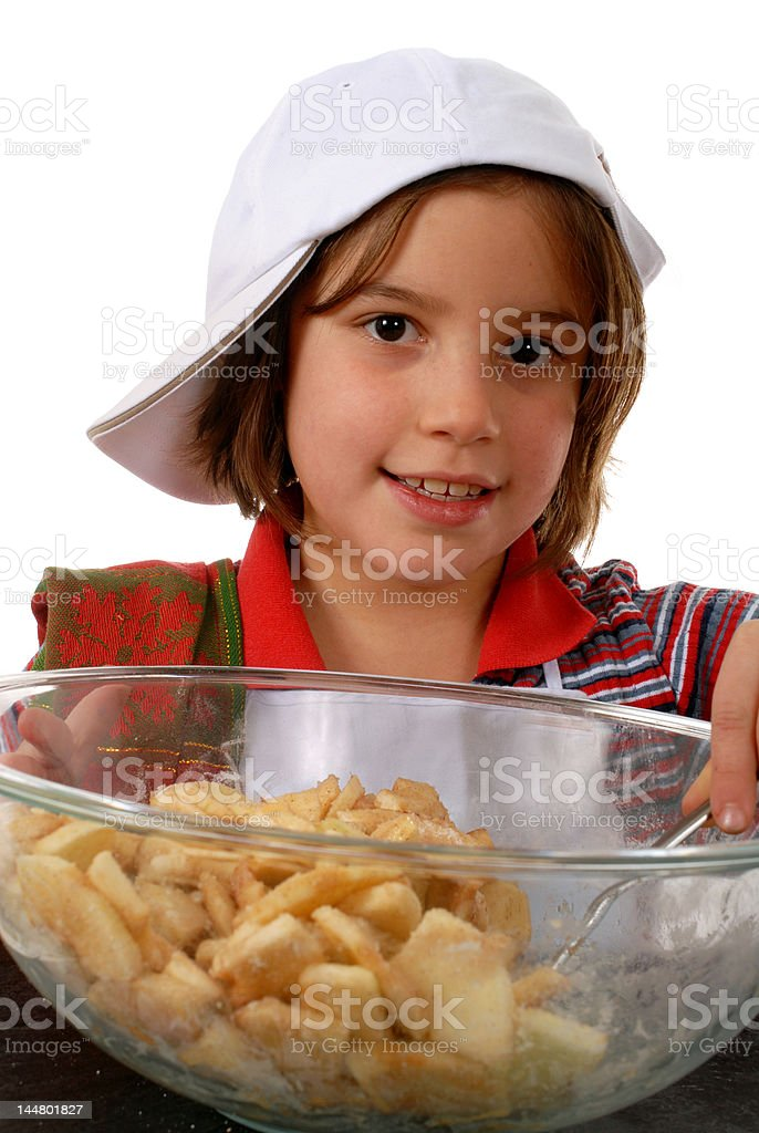 Making Pie royalty-free stock photo