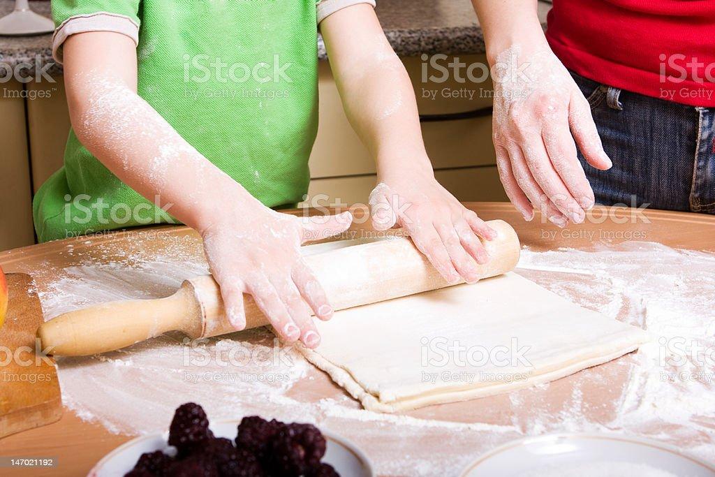 Making pie royalty-free stock photo