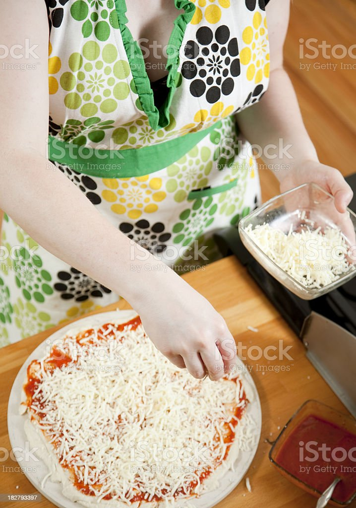 Making Pizza royalty-free stock photo