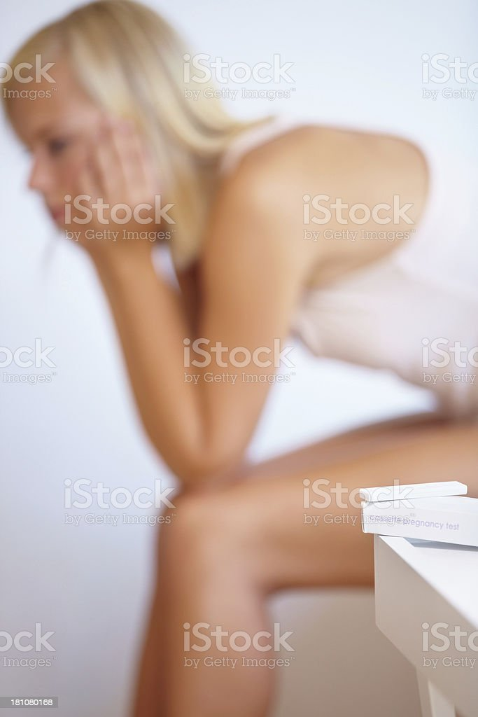 Making plans for an unplanned pregnancy royalty-free stock photo