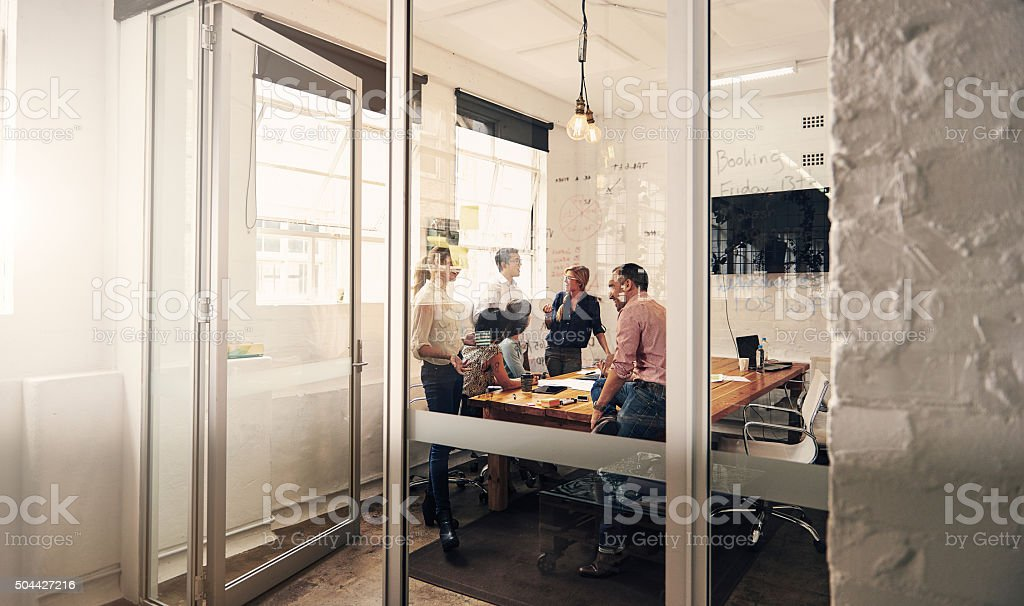 Making plans for success stock photo