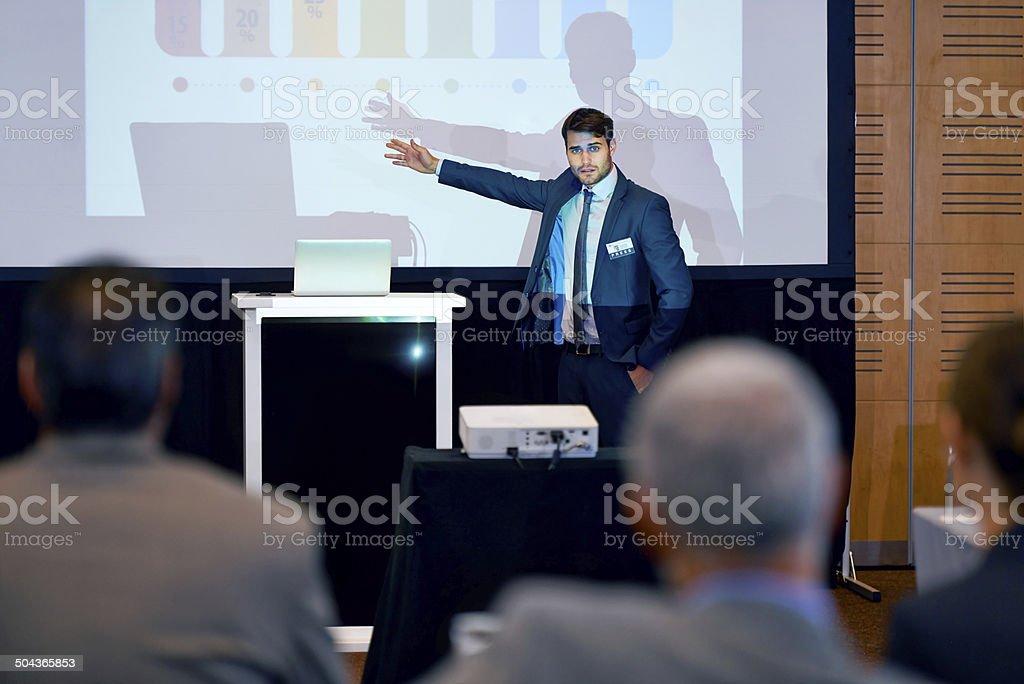 Making presenting look good stock photo