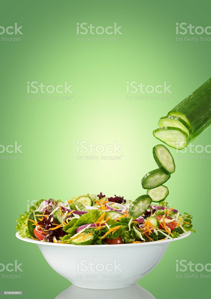 Making salad stock photo