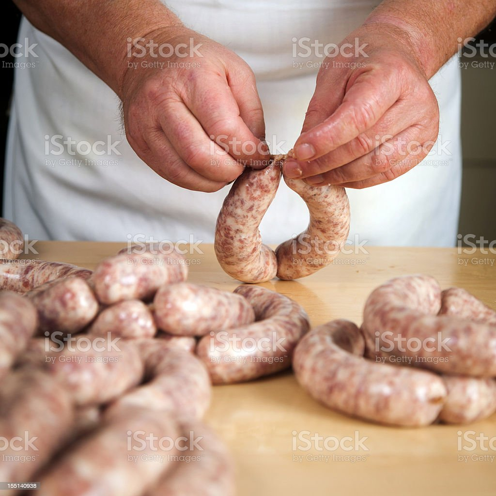 Making Sausages stock photo
