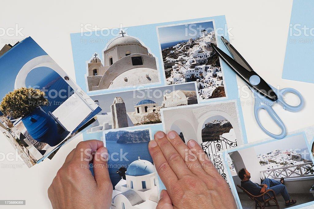 Making Scrapbook Vacation Page royalty-free stock photo