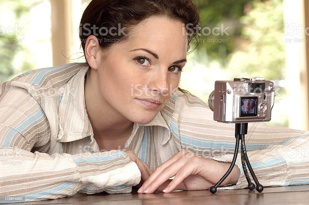 making self portrait royalty-free stock photo