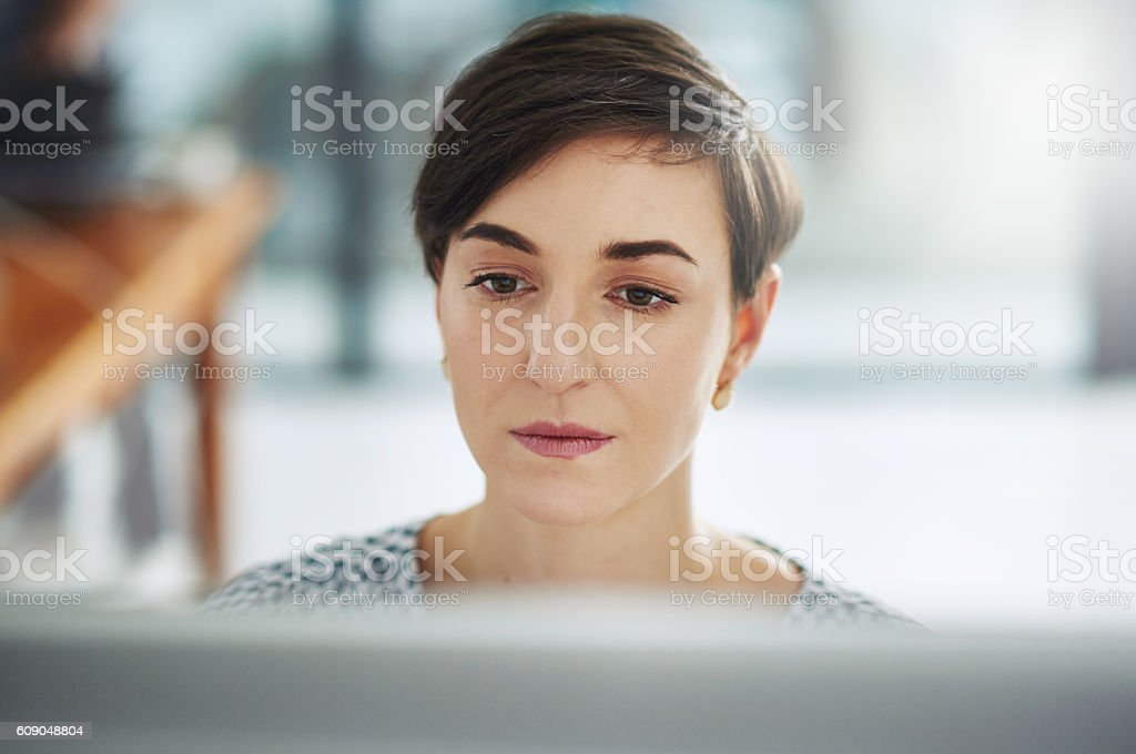 Making sense of some of her new ideas stock photo