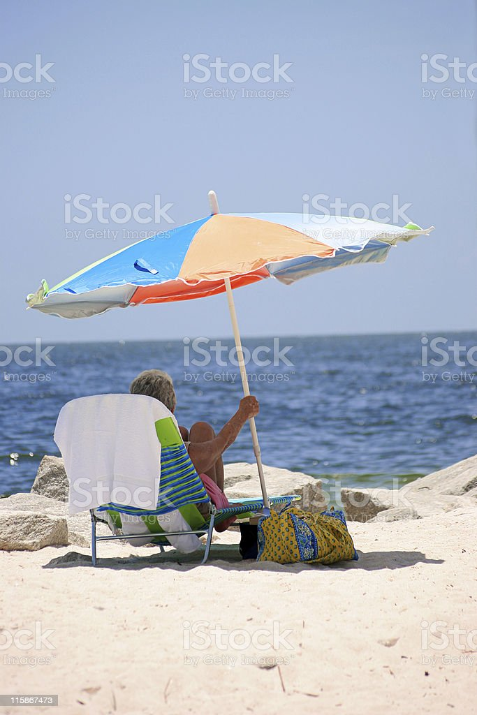 Making Shade royalty-free stock photo