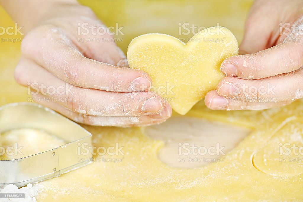 Making shortbread cookies royalty-free stock photo