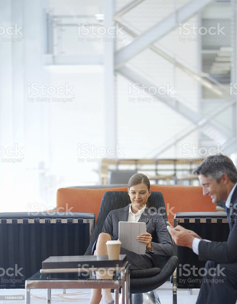 Making some casual conversation royalty-free stock photo