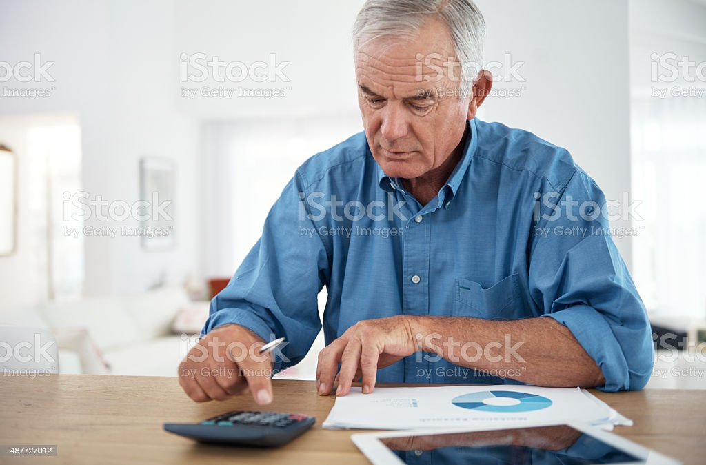Making sound retirement plans stock photo