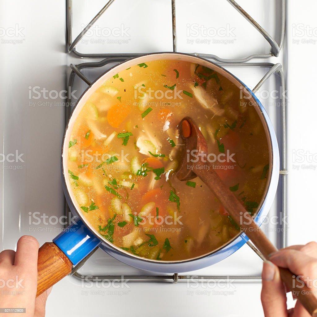 Making Soup stock photo
