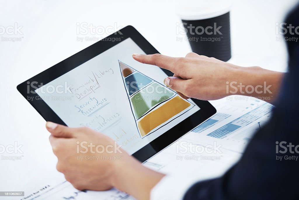 Making statistics easy to understand royalty-free stock photo